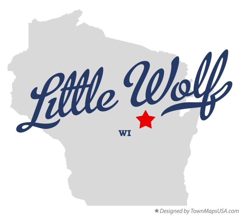 Map of Little Wolf Wisconsin WI
