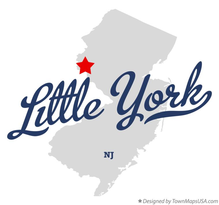 Map of Little York New Jersey NJ
