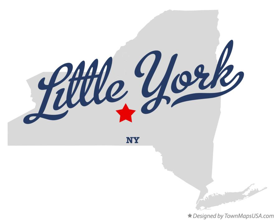 Map of Little York New York NY