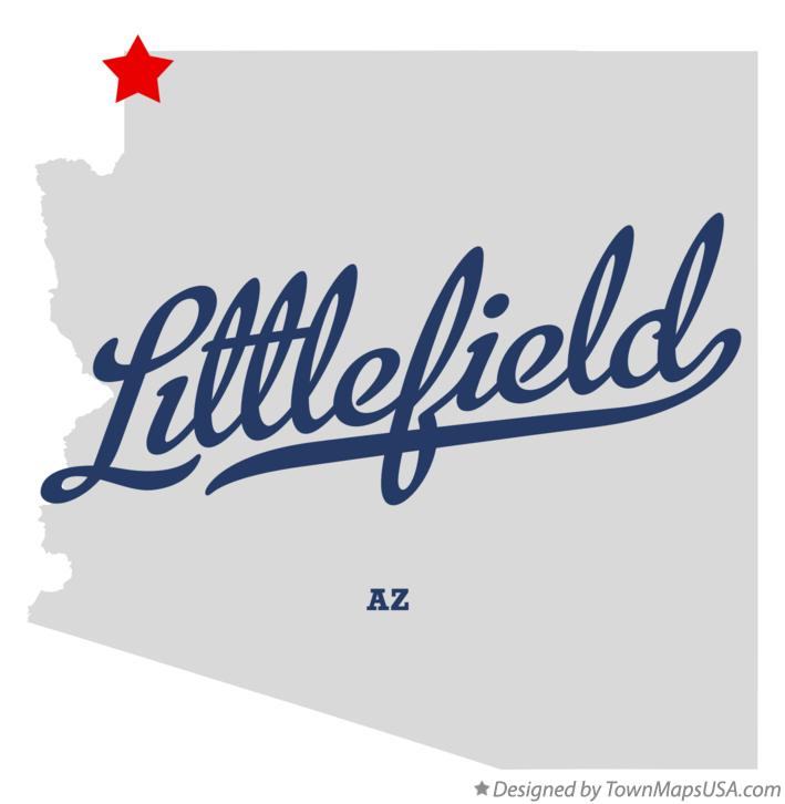 Map of Littlefield Arizona AZ
