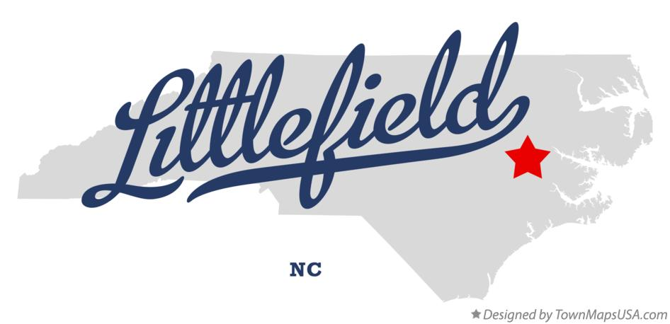 Map of Littlefield North Carolina NC