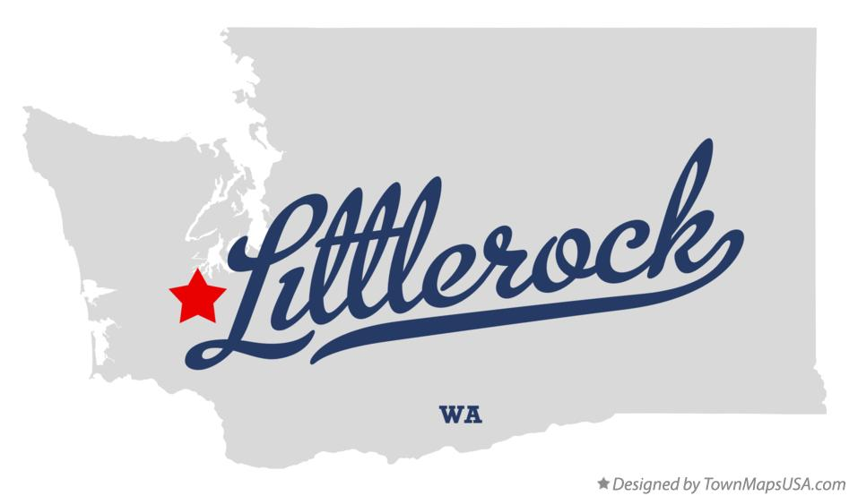 Map of Littlerock Washington WA
