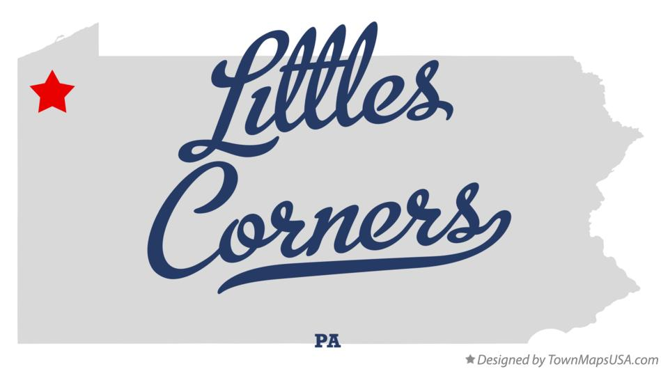 Map of Littles Corners Pennsylvania PA