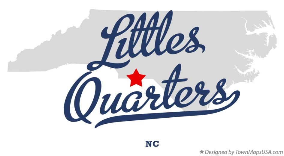 Map of Littles Quarters North Carolina NC