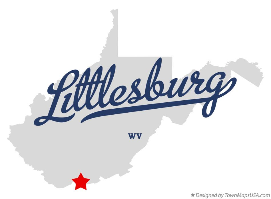 Map of Littlesburg West Virginia WV