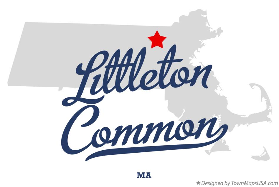 Map of Littleton Common Massachusetts MA