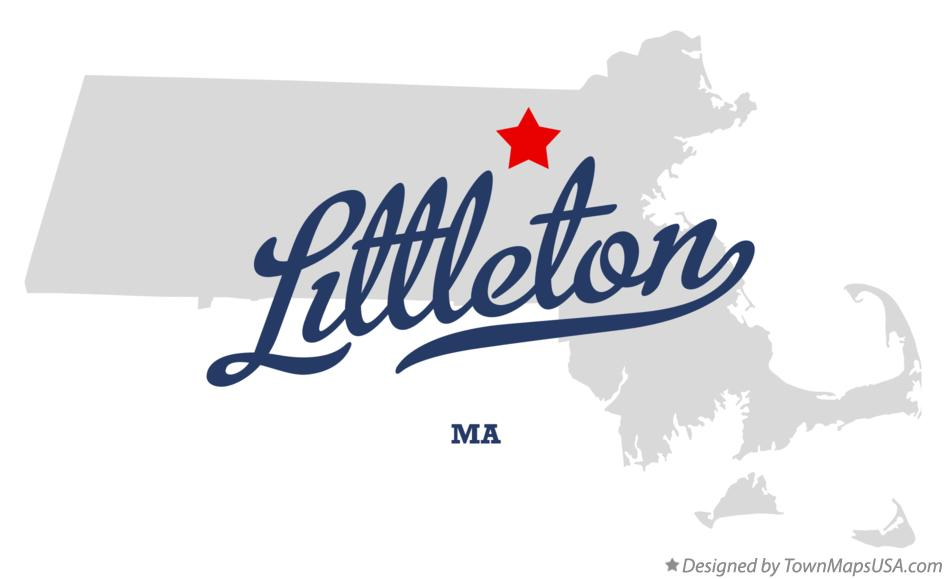 Map of Littleton Massachusetts MA