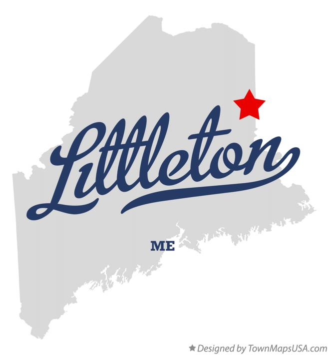 Map of Littleton Maine ME