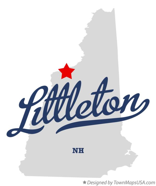 Map of Littleton New Hampshire NH