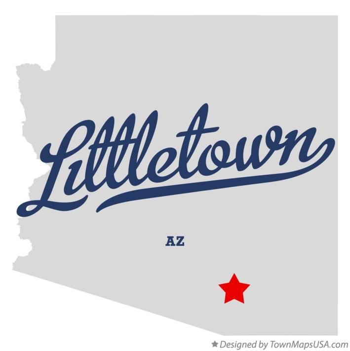 Map of Littletown Arizona AZ