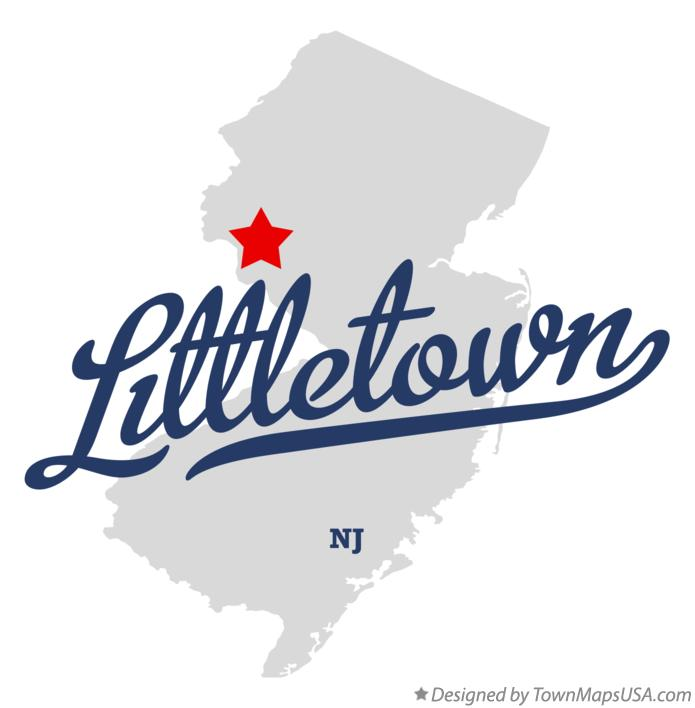 Map of Littletown New Jersey NJ