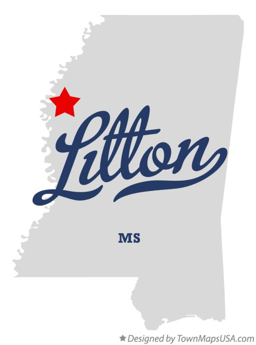Map of Litton Mississippi MS