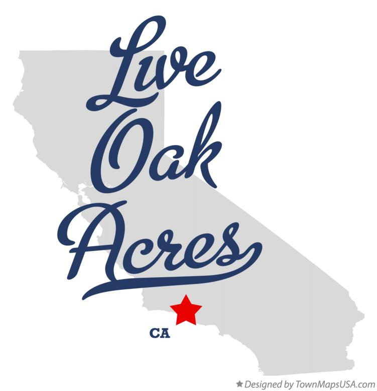 Map of Live Oak Acres California CA