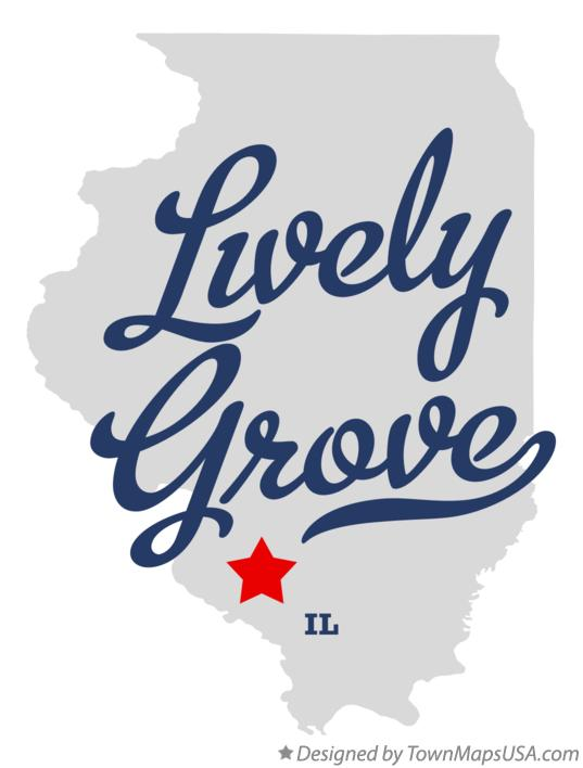 Map of Lively Grove Illinois IL