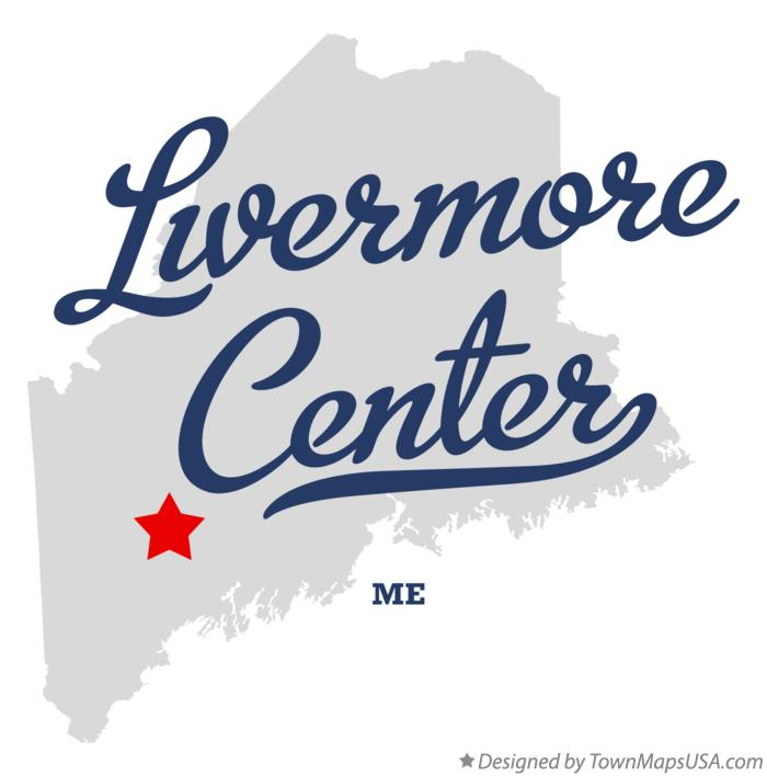 Map of Livermore Center Maine ME