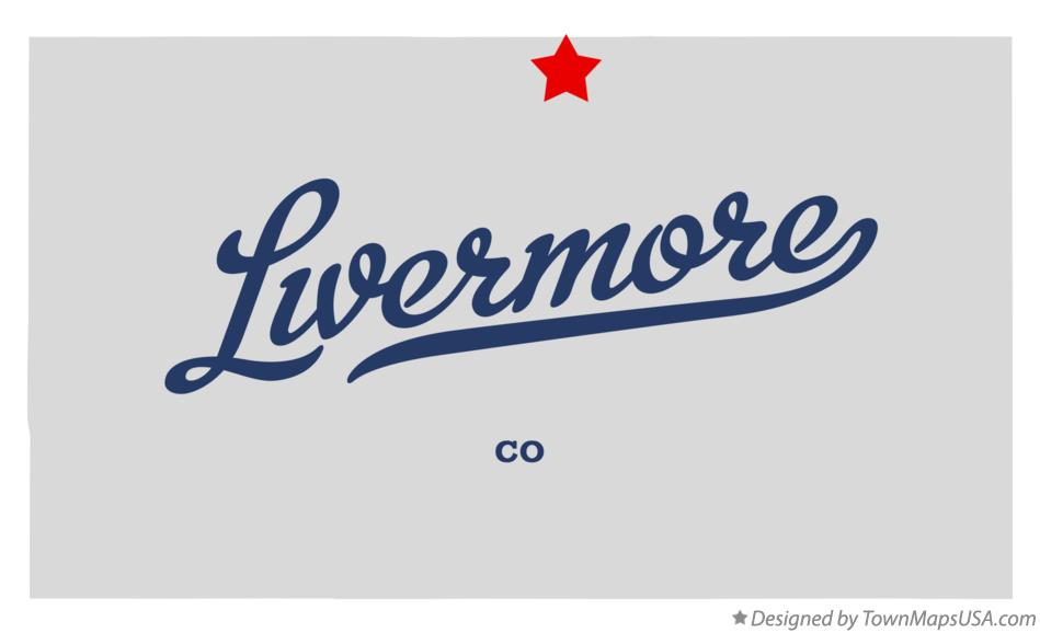Map of Livermore Colorado CO