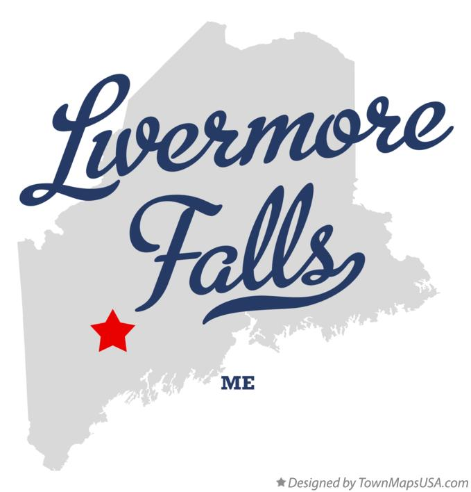 Map of Livermore Falls Maine ME