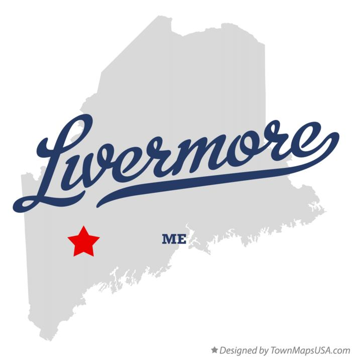 Map of Livermore Maine ME