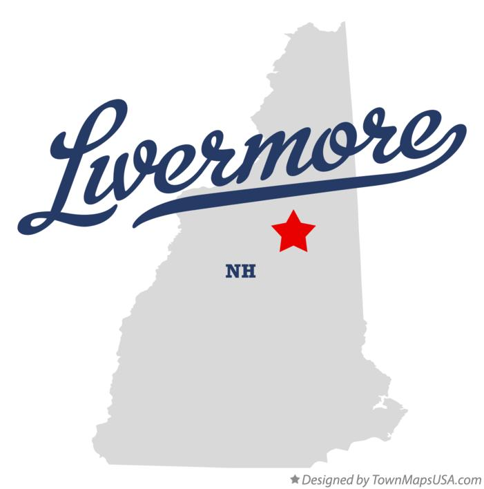 Map of Livermore New Hampshire NH