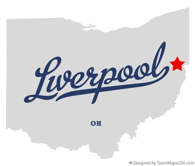 Map of Liverpool Ohio OH