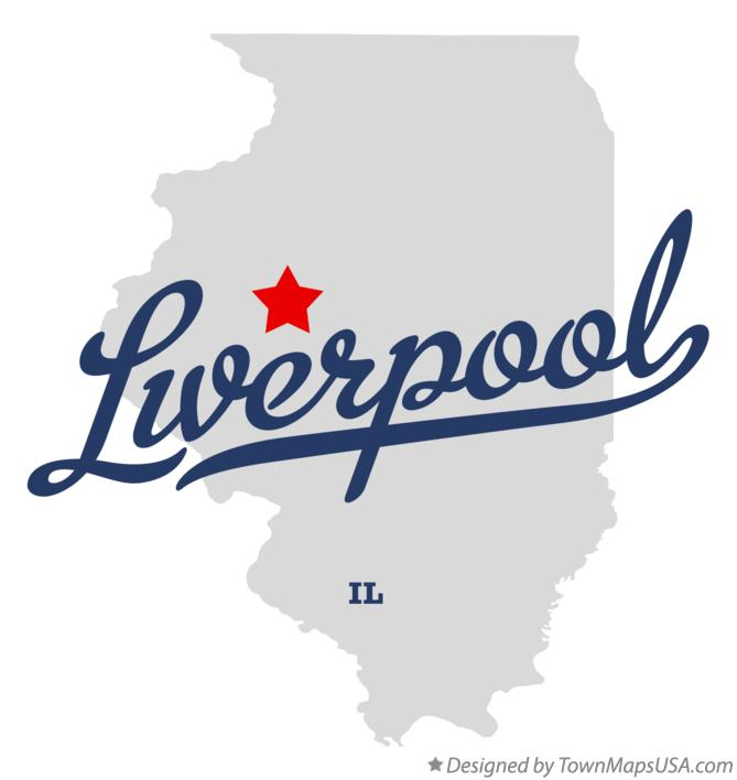 Map of Liverpool Illinois IL