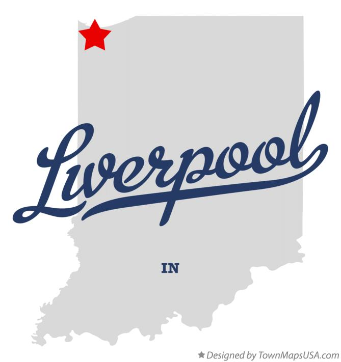 Map of Liverpool Indiana IN
