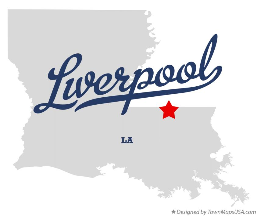 Map of Liverpool Louisiana LA