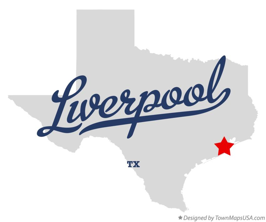 Map of Liverpool Texas TX