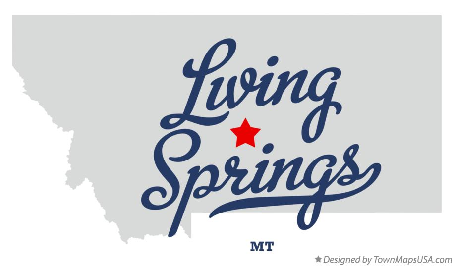 Map of Living Springs Montana MT