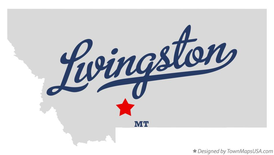 Map of Livingston Montana MT
