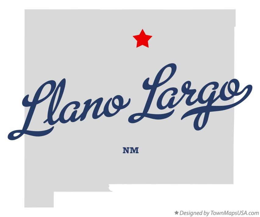 Map of Llano Largo New Mexico NM