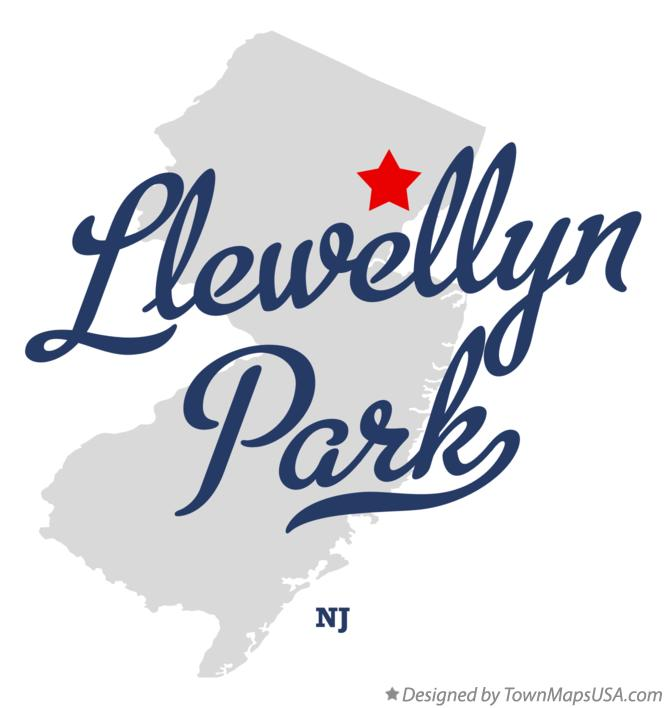 Map of Llewellyn Park New Jersey NJ