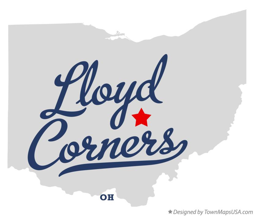 Map of Lloyd Corners Ohio OH