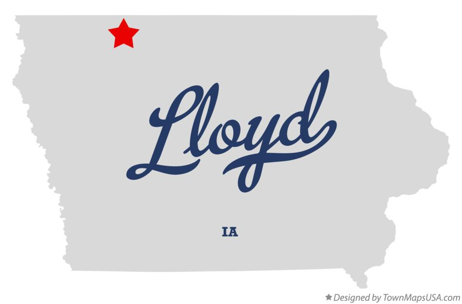 Map of Lloyd Iowa IA
