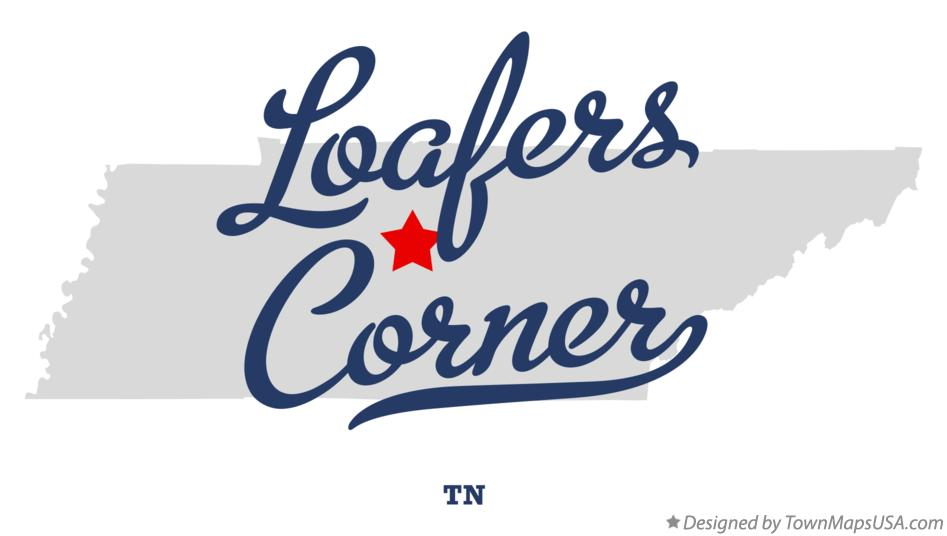 Map of Loafers Corner Tennessee TN