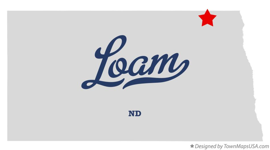 Map of Loam North Dakota ND