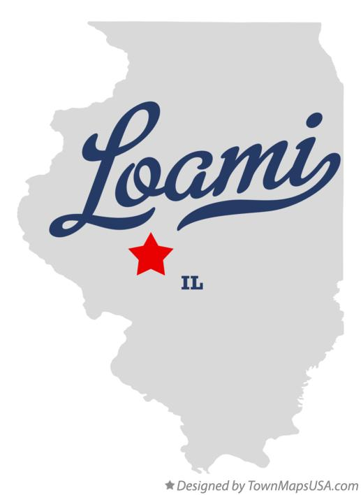 Map of Loami Illinois IL