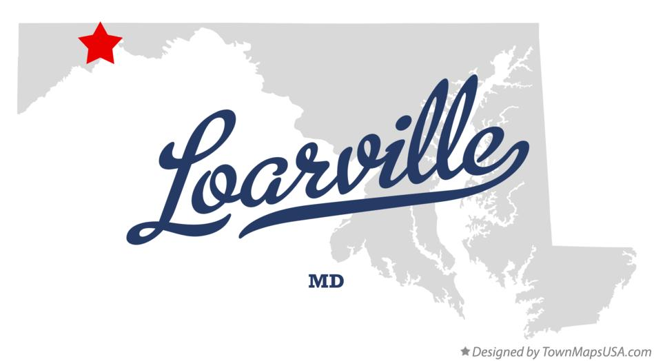 Map of Loarville Maryland MD