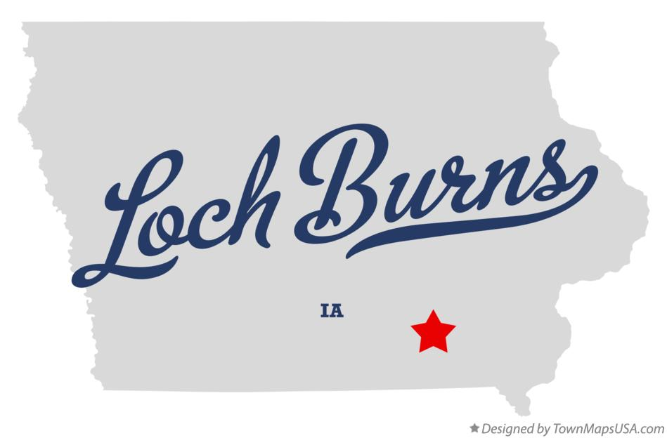 Map of Loch Burns Iowa IA