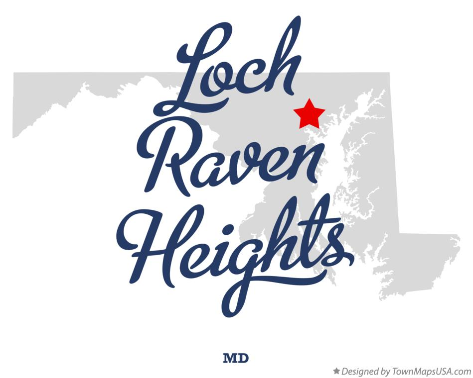 Map of Loch Raven Heights Maryland MD