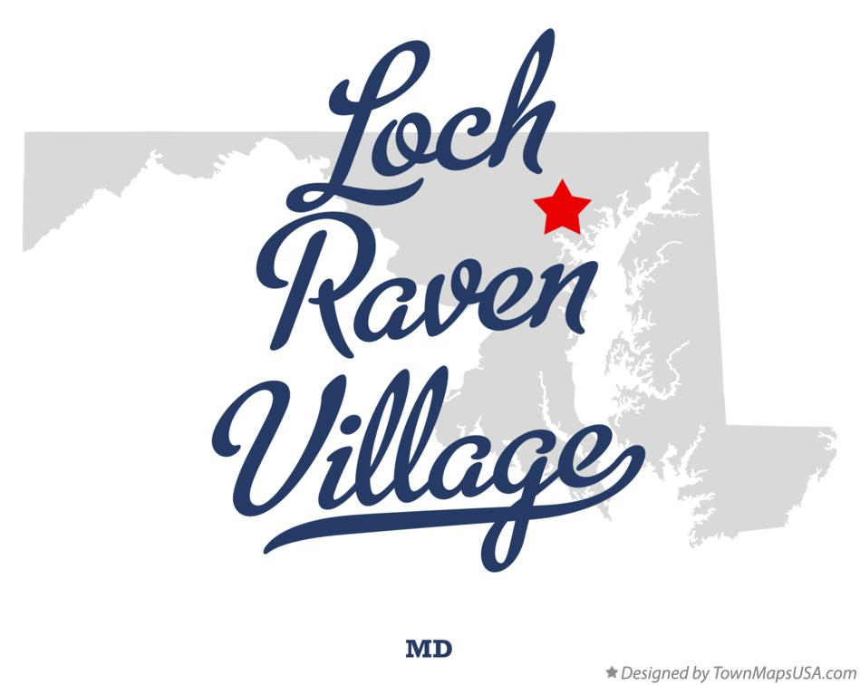 Map of Loch Raven Village Maryland MD