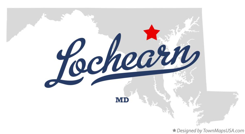 Map of Lochearn Maryland MD