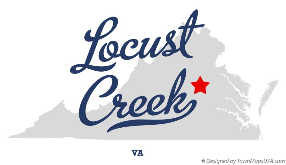 Map of Locust Creek Virginia VA