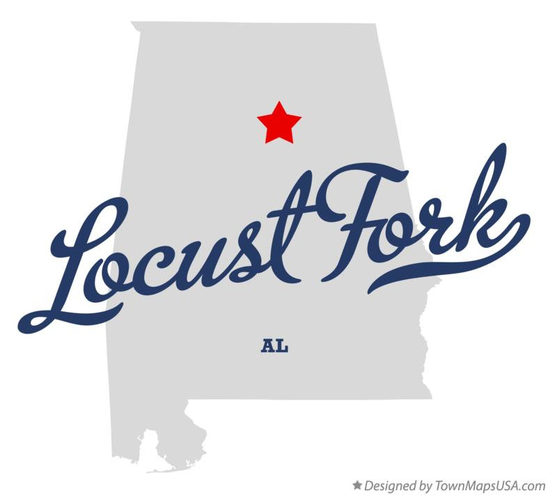 Map of Locust Fork Alabama AL