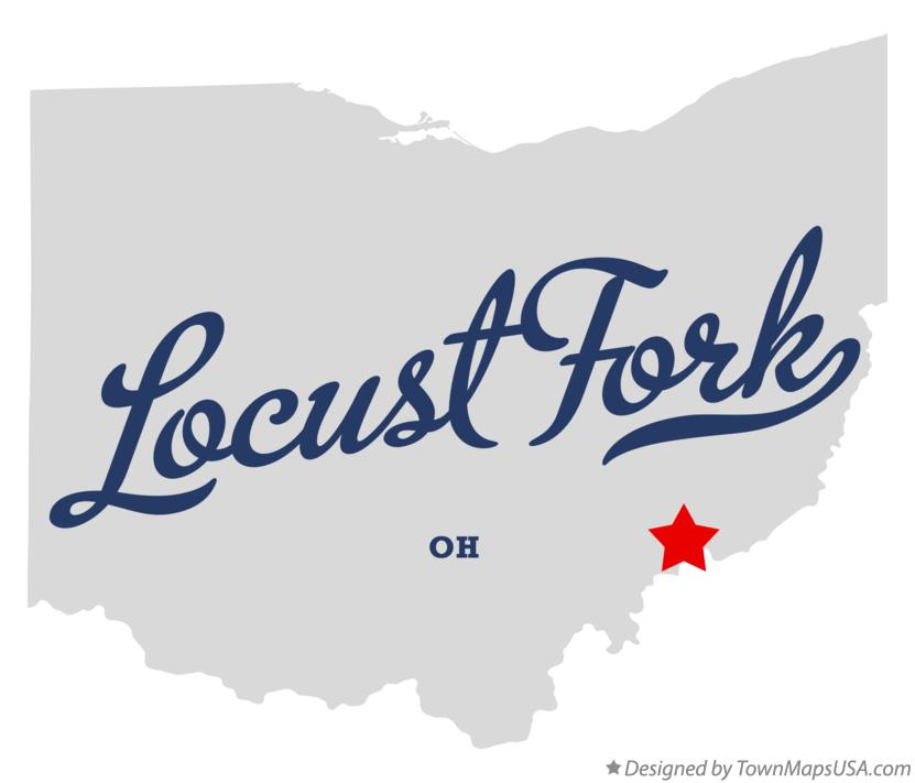 Map of Locust Fork Ohio OH