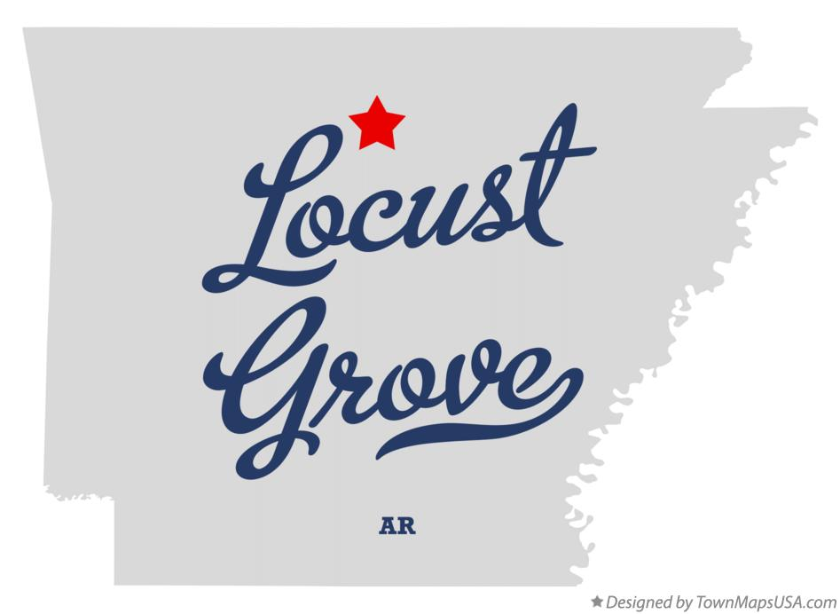Map of Locust Grove Arkansas AR
