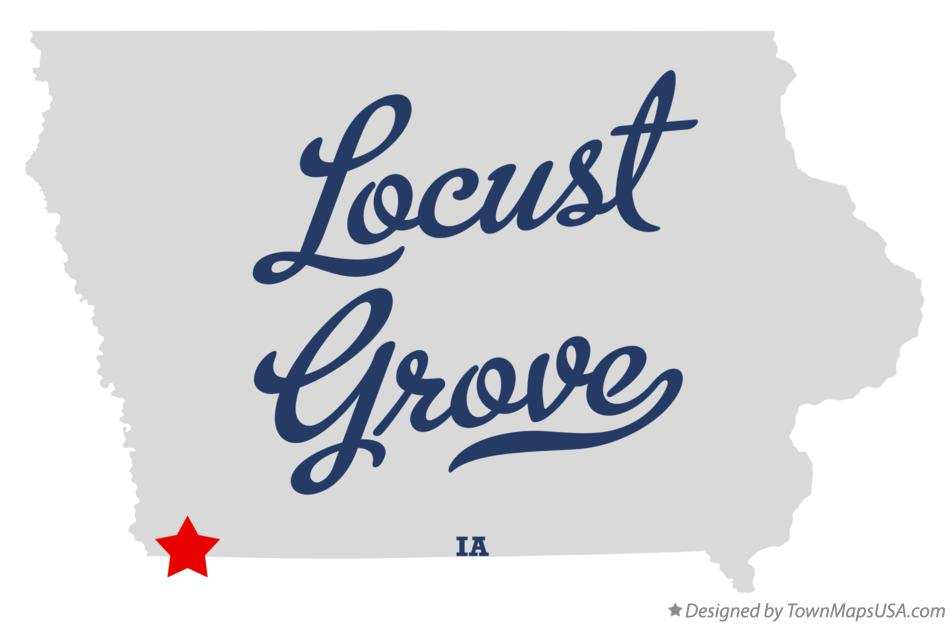 Map of Locust Grove Iowa IA