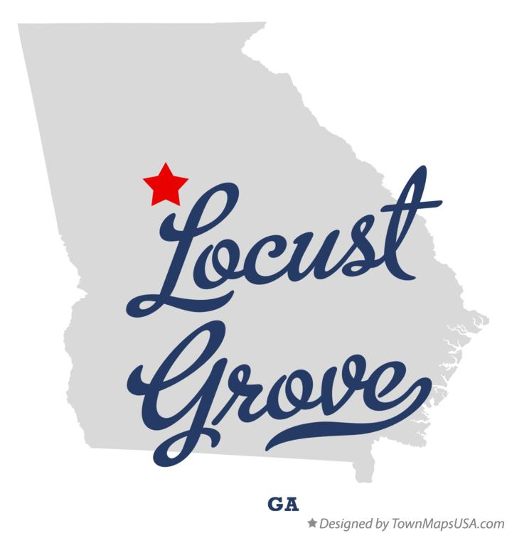 Map of Locust Grove Georgia GA