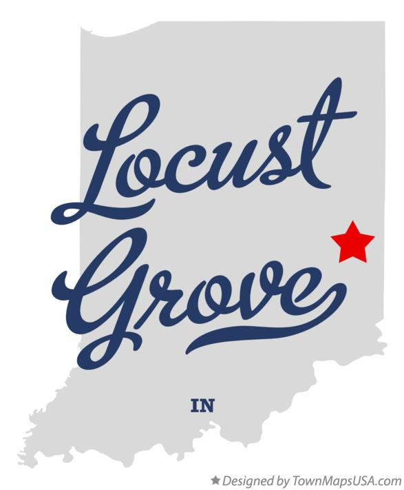 Map of Locust Grove Indiana IN