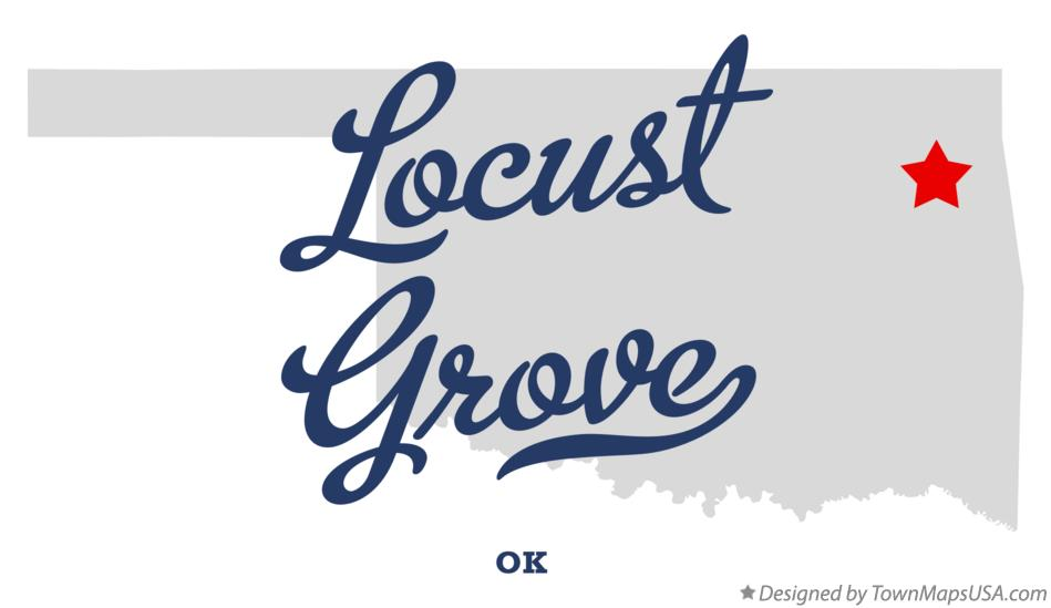 Map of Locust Grove Oklahoma OK